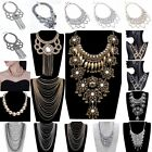 Fashion Women Vintage Gold Silver Necklace Chain Statement Chunky Collar Pendant