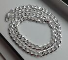 7.5 MM 925 STERLING SILVER MEN'S/WOMEN'S CUBAN LINK CHAIN NECKLACE 16-36""