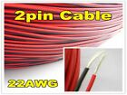 22AWG 2Pin Extension Red Black Wire Cable Cord for 3528 5050 5630 LED Strip Lamp