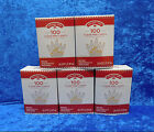 LOT of 5 Boxes Holiday Time 100 Clear White Mini Lights White Wire Christmas