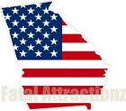 American Flag Georgia State Outline Vinyl Sticker Decal GA silhouette southern