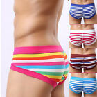 Men's Cotton Striped Triangle Sexy Underwear Underpants Hot UK Guy Necessary New