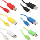 LED Micro USB Lightning Charger Cable Data Sync Cable For iphone5 5S 6 6S
