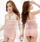 Sexy Lingerie Babydoll Nightie Underwear Dress  Bridal Honeymoon Gowns + String