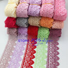 FP136 1 Yard, Lace Trim Ribbon For Dress Veil skirt Embroidered Sewing DIY Craft