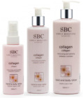 SBC Collagen Hand and Body Lotion, recommended to soften dry skin, all sizes