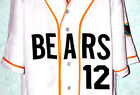 BAD NEWS BEARS #12 MOVIE JERSEY BUTTON-DOWN BASEBALL NEW SEWN ANY SIZE