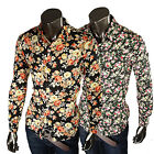 2016 New Floral Mens Fashion Luxury Casual Slim Fit Stylish Long Sleeve Shirts