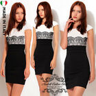 donna vestiti Womens Celeb Lace pizzo Spitze abiti Kleid Pencil Party Dress B003