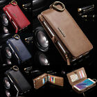 FLOVEME Wallet 18 Card Slots Stand Genuine Leather Cover Case for Samsung Galaxy