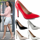 LADIES WOMENS MID HIGH STILETTO HEEL POINTED PARTY WORK PROM COURT SHOES SIZE