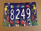 "Aquatic Life Style- Hand Painted Art Tile House Numbers ""Left8249Right"""