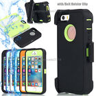 For iPhone 7 7 Plus case new hybrid defender outer series case w/belt clip stand