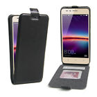 Vertical Magnetic Lock Flip Up-Down Open Leather Cover Case For Huawei Y3 II 2