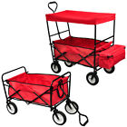 Collapsible Folding Wagon Cart Outdoor Utility Garden Beach Toy Sports w/oCanopy