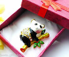 Brooch pin animals Pandan bear dog parrott cat elephant for mum ladies women