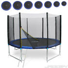 8ft 10ft 12ft 13ft 14ft 15ft 16ft Trampoline with Ladder Rain Cover Safety Net