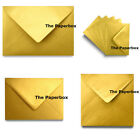 Gold Metallic Pearlescent Envelopes - choice of size & quantity