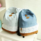 Fashion Women's Backpack Girl School Shoulder Bag Rucksack Canvas Travel Bookbag