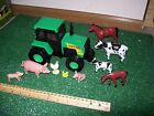 STEEL RODER GREEN Tractor.Farm Animals MAMA & BABY set  NEW& SEALED -LOOK