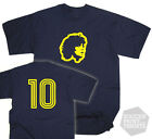 Diego Maradona Number 10 Boca Juniors Argentina Legend Football T-Shirt