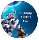 """Ice Age Cake  topper 7.5""""  round(pre cut icing)"""