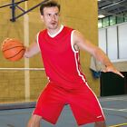 SPIRO SPORTS WEAR MENS BASKETBALL VEST TOP 3 Cols S - 4XL BREATHABLE LIGHTWEIGHT