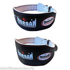 Morgan Weight Lifting Belt Bodybuilding Back Support Weightlifting Leather Gym