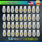 T10 194 LED Wedge 5-SMD 50 Pcs 6k White 5050 Light bulbs W5W 2825 158 192 168