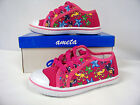 New Girls Canvas Low -Top Athletic Shoe (Fushia - Sealife )  Youth Size 2 & 4