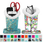 PU Leather Eye-Glass Protective Cover Stand Case Plush Lined Eyeglasses Holder