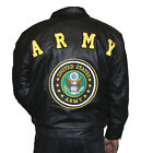 Men's Leather ARMY Jacket Pig Napa Bomber Style GREAT PRICE $99.89