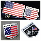 Car Motorcycle Front Rear Side Decal Aluminum American USA Flag Decor Sticker