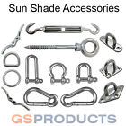 Stainless Steel Sun Sail Shade Canopy Kit Accessories - Hook Eye Plate Rings