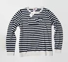 NWT Vineyard Vines Women's Nautical Stripe Whale Sweater With Cashere Blouse S M