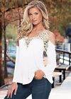 New Fashion Women Long Sleeve Shirt Casual Lace Blouse Loose Tops T-Shirt