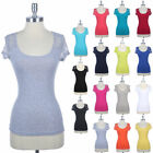 LACE Cap Sleeve Floral Fitted T Shirt Round Neck Fitted Top S M L