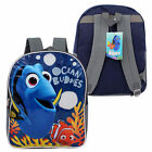 "Backpack 15"" Disney Finding Dory Nemo Ocean Buddies Boy Blue Grey NEW"