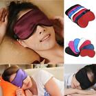Pure Silk Soft Sleeping Eye Mask Padded Shade Cover Travel Relax Aid Blindfold