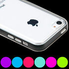 TPU Gel Rubber Slim Bumper Case Cover For Apple iPhone 5c 6s Screen Protector