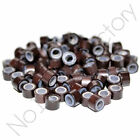 500pc 4mm 4.5mm 5mm Silicone Lined Micro Rings/Beads for i-Tip Hair Extensions