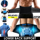 Neoprene Lower Back Support Belt Lumbar Brace Waist Posture Pain Relief Black UK