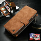 Luxury Leather Case Zipper Wallet Card Flip Cover For Samsung Galaxy S7/ S7 Edge