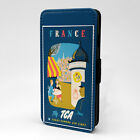 Vintage Countries Posters PC Leather Flip Case Cover - France - S-T2624