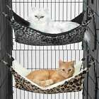 Thermapet Warm Cat Hammock Bed Brown Or Grey Leopard Print Thermal Lining