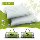 Egyption Comfort Bamboo Memory Foam Pillow & Removable Case King Queen 1,2 pack