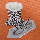 Leopard Design Plush Eyeglass Stand Holder with Cleaning Cloth (1 to 8)