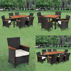 Patio Outdoor Garden Dining Set Rattan Wicker Acacia Wood Choice Of 3 Models