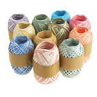 Paper Raffia Roll Gift Wrapping, Two-tone, 18mm, 100 Yards