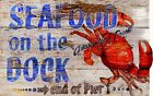 SEAFOOD ON THE DOCK  ~ Handcrafted Custom Wood Sign w/ Your Name ~ by PLD